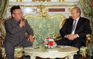 普京会见金正日 两国签署《莫斯科宣言》(附图)