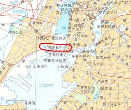 图文:纽约世界贸易中心的详细地图