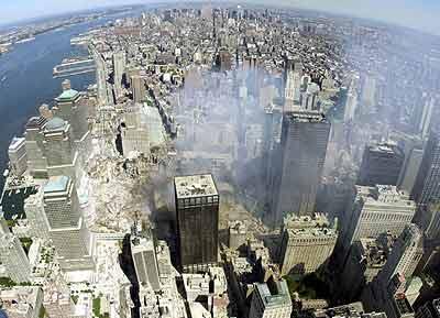 纽约昔日美丽的风景线如今变成了废墟一片