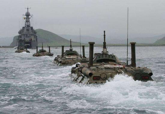资料图:俄军以往在南千岛群岛的演习