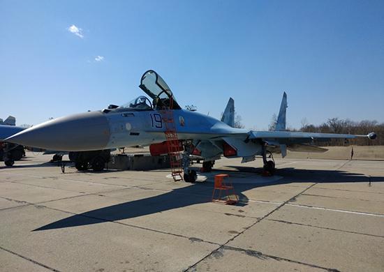 俄罗斯远东地区的su-35战机 图源:俄罗斯国防部