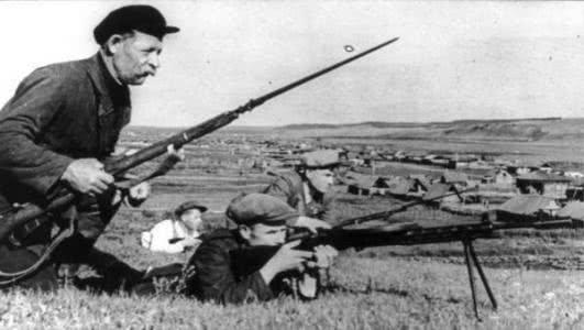 资料图:苏联游击队
