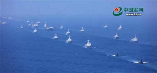 ▲资料图片:2018年4月12日上午,中央军委在南海海域隆重举行海上阅兵。