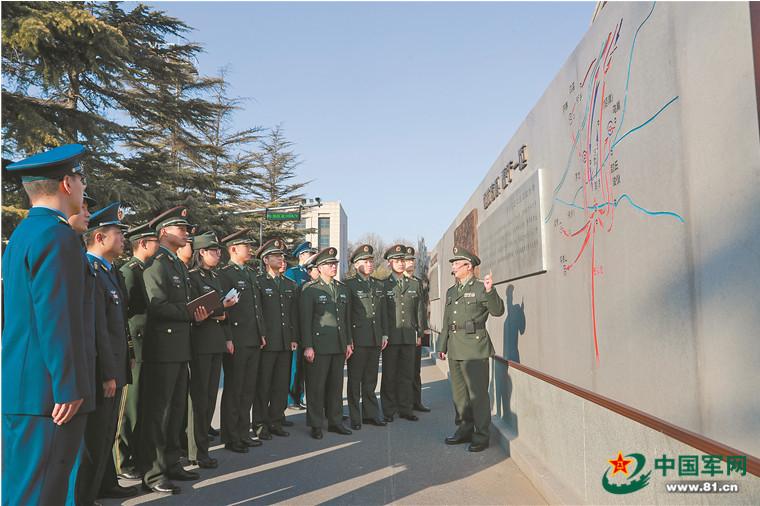 """国防大学的""""百米战墙""""成为战例教学开放长廊_山东大学研究生"""
