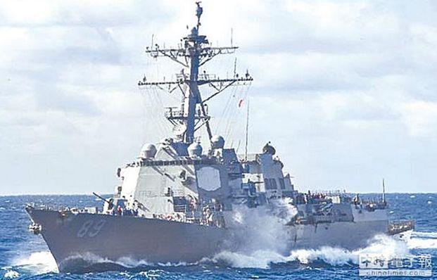"""台军叫嚣""""美军舰有权来台海"""