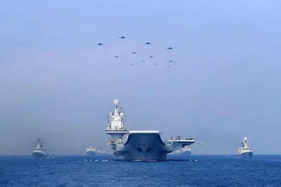 中国水师海上编队