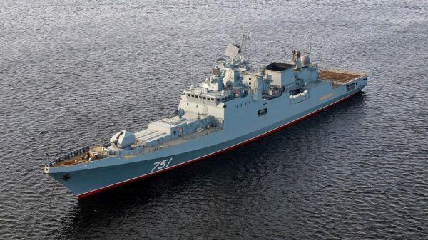 图为俄海军装备的护卫舰