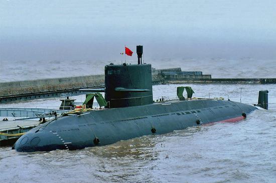 资料图:中国海军新型常规潜艇