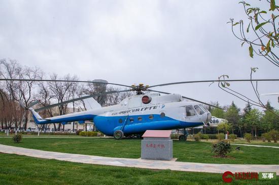 功勋园陈列的米-8试验直升机 中国飞行试验研究院 供图