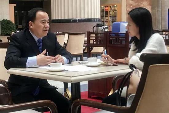 刘志让接受《环球时报》记者专访。