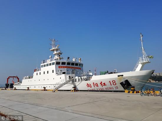 """中国海洋科考船""""向阳红""""(视觉中国)"""