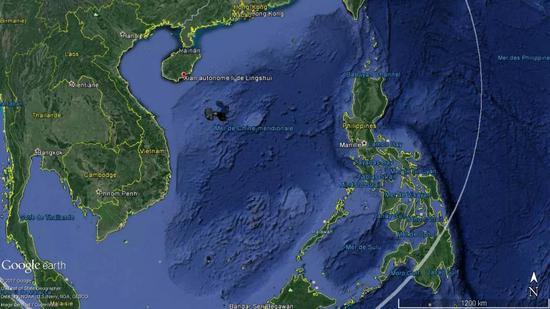 外媒绘制的高新6号巡逻范围(图源:navalnews)